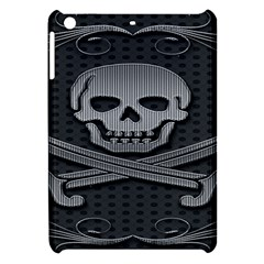 Skull Metal Background Carved Apple Ipad Mini Hardshell Case