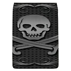 Skull Metal Background Carved Flap Covers (s)