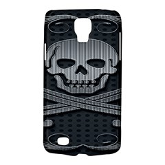 Skull Metal Background Carved Galaxy S4 Active