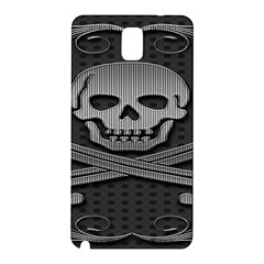 Skull Metal Background Carved Samsung Galaxy Note 3 N9005 Hardshell Back Case