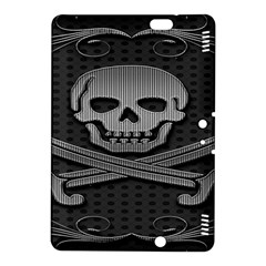 Skull Metal Background Carved Kindle Fire Hdx 8 9  Hardshell Case