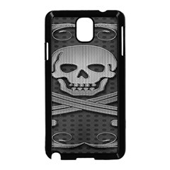 Skull Metal Background Carved Samsung Galaxy Note 3 Neo Hardshell Case (black)