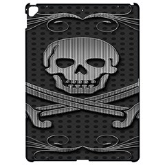 Skull Metal Background Carved Apple Ipad Pro 12 9   Hardshell Case