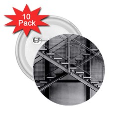 Architecture Stairs Steel Abstract 2 25  Buttons (10 Pack)