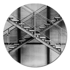Architecture Stairs Steel Abstract Magnet 5  (round)