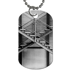 Architecture Stairs Steel Abstract Dog Tag (one Side)