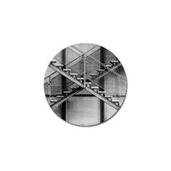 Architecture Stairs Steel Abstract Golf Ball Marker