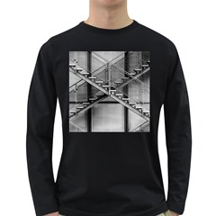Architecture Stairs Steel Abstract Long Sleeve Dark T Shirts