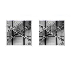 Architecture Stairs Steel Abstract Cufflinks (square)