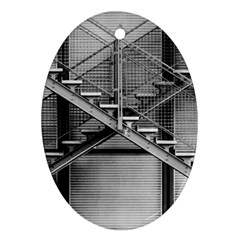 Architecture Stairs Steel Abstract Oval Ornament (two Sides)