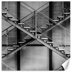 Architecture Stairs Steel Abstract Canvas 12  X 12