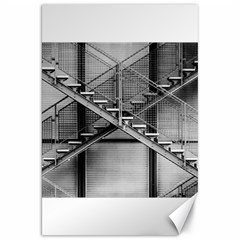 Architecture Stairs Steel Abstract Canvas 20  X 30