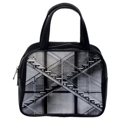Architecture Stairs Steel Abstract Classic Handbags (one Side)
