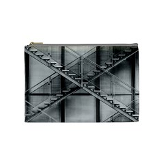 Architecture Stairs Steel Abstract Cosmetic Bag (medium)