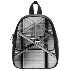 Architecture Stairs Steel Abstract School Bag (small)