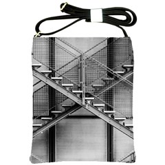 Architecture Stairs Steel Abstract Shoulder Sling Bags