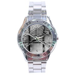 Architecture Stairs Steel Abstract Stainless Steel Analogue Watch