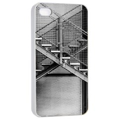 Architecture Stairs Steel Abstract Apple Iphone 4/4s Seamless Case (white)