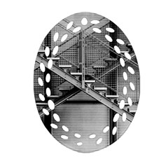 Architecture Stairs Steel Abstract Oval Filigree Ornament (two Sides)