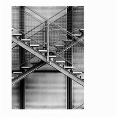 Architecture Stairs Steel Abstract Large Garden Flag (two Sides)