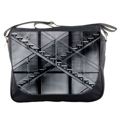 Architecture Stairs Steel Abstract Messenger Bags