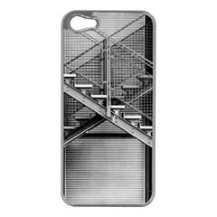 Architecture Stairs Steel Abstract Apple Iphone 5 Case (silver)