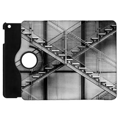 Architecture Stairs Steel Abstract Apple Ipad Mini Flip 360 Case