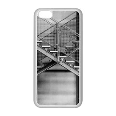 Architecture Stairs Steel Abstract Apple Iphone 5c Seamless Case (white)