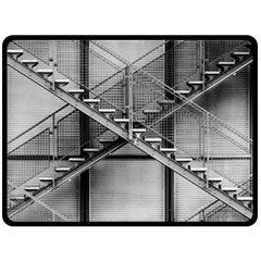 Architecture Stairs Steel Abstract Double Sided Fleece Blanket (large)