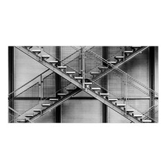 Architecture Stairs Steel Abstract Satin Shawl