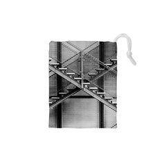 Architecture Stairs Steel Abstract Drawstring Pouches (xs)