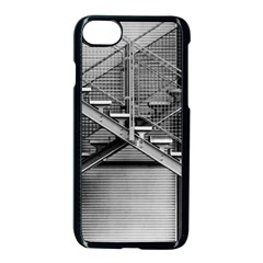 Architecture Stairs Steel Abstract Apple Iphone 8 Seamless Case (black)