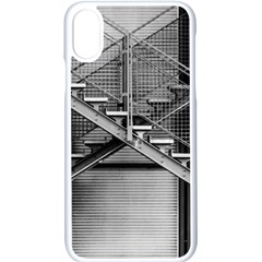 Architecture Stairs Steel Abstract Apple Iphone X Seamless Case (white)
