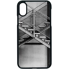 Architecture Stairs Steel Abstract Apple Iphone X Seamless Case (black)