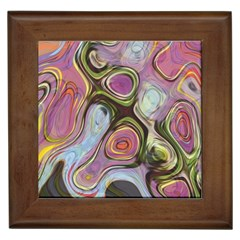 Retro Background Colorful Hippie Framed Tiles