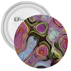 Retro Background Colorful Hippie 3  Buttons