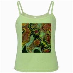 Retro Background Colorful Hippie Green Spaghetti Tank