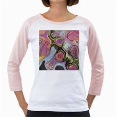 Retro Background Colorful Hippie Girly Raglans