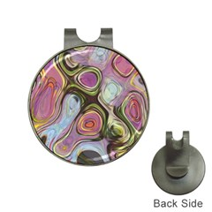 Retro Background Colorful Hippie Hat Clips With Golf Markers
