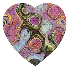 Retro Background Colorful Hippie Jigsaw Puzzle (heart)