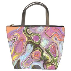 Retro Background Colorful Hippie Bucket Bags