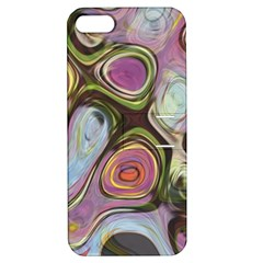 Retro Background Colorful Hippie Apple Iphone 5 Hardshell Case With Stand