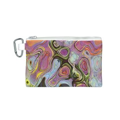 Retro Background Colorful Hippie Canvas Cosmetic Bag (s)