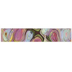 Retro Background Colorful Hippie Large Flano Scarf