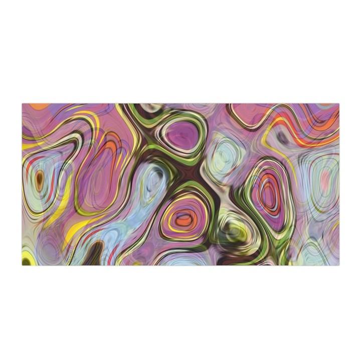 Retro Background Colorful Hippie Satin Wrap