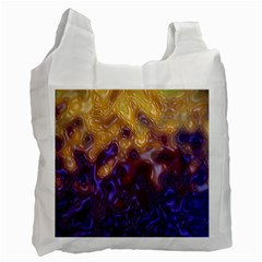 Fractal Rendering Background Recycle Bag (two Side)