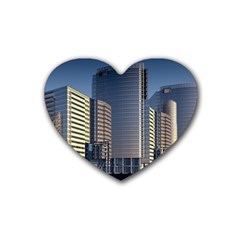 Skyscraper Skyscrapers Building Rubber Coaster (heart)