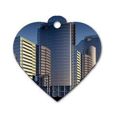 Skyscraper Skyscrapers Building Dog Tag Heart (two Sides)