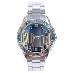 Skyscraper Skyscrapers Building Stainless Steel Analogue Watch