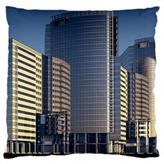 Skyscraper Skyscrapers Building Large Cushion Case (one Side)